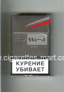 West (design 10) (Active Carbon Filter / Carbon Line) ( hard box cigarettes )