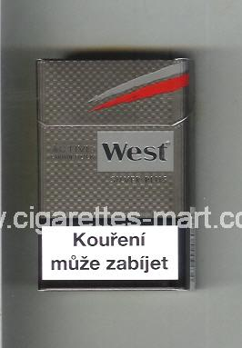 West (design 10) (Active Carbon Filter / Silver Plus) ( hard box cigarettes )