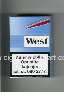 West (design 10) (American Blend / Blue) ( hard box cigarettes )