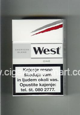 West (design 10) (American Blend / One) ( hard box cigarettes )