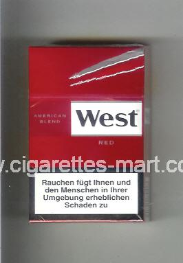 West (design 10) (American Blend / Red) ( hard box cigarettes )