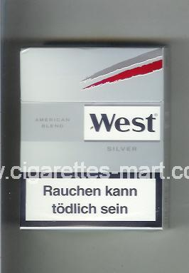 West (design 10) (American Blend / Silver) ( hard box cigarettes )