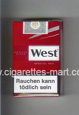 West (design 10) (American Blend / Special Red) ( soft box cigarettes )