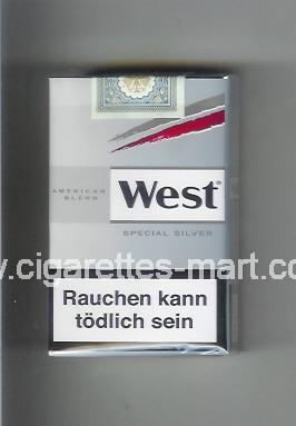 West (design 10) (American Blend / Special Silver) ( soft box cigarettes )