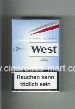 West (design 10) (Cool Blend / Ice) ( hard box cigarettes )