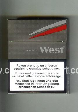West (design 10) (Grapehite) ( hard box cigarettes )