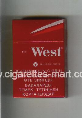 West (design 10) (Red / Tri-Logic Filter) ( hard box cigarettes )