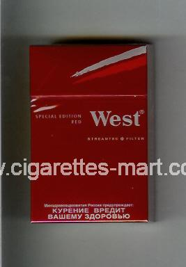 West (design 10) (Special Edition / Red) ( hard box cigarettes )