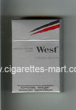 West (design 10) (Special Edition / Silver) ( hard box cigarettes )