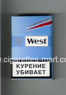 West (design 10A) (Blue) ( hard box cigarettes )