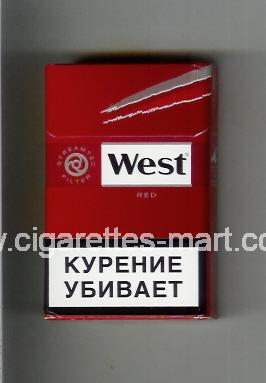 West (design 10A) (Red) ( hard box cigarettes )