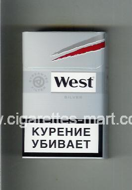 West (design 10A) (Silver) ( hard box cigarettes )