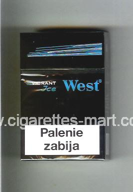 West (design 11) (Vibrant / Ice) ( hard box cigarettes )
