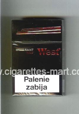 West (design 11) (Vibrant / Red) ( hard box cigarettes )