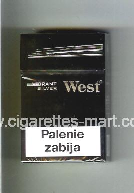 West (design 11) (Vibrant / Silver) ( hard box cigarettes )