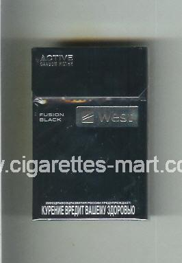 West (design 12) (Active Carbon Filter / Fusion Black) ( hard box cigarettes )