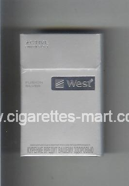 West (design 12) (Active Carbon Filter / Fusion Silver) ( hard box cigarettes )