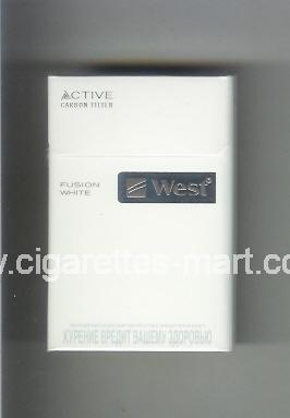 West (design 12) (Active Carbon Filter / Fusion White) ( hard box cigarettes )