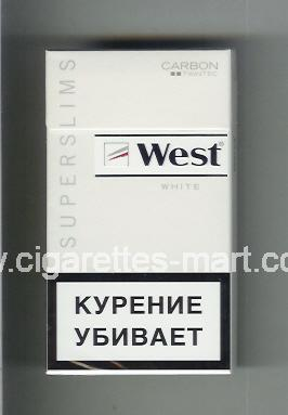 West (design 12) (Superslims / White / Carbon) ( hard box cigarettes )