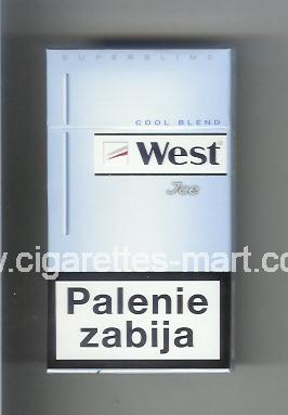 West (design 12A) (Ice / Cool Blend / Superslims) ( hard box cigarettes )