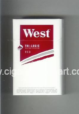 West (design 13) (Tri - Logic / Red) ( hard box cigarettes )