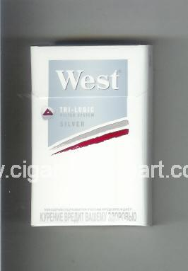 West (design 13) (Tri - Logic / Silver) ( hard box cigarettes )