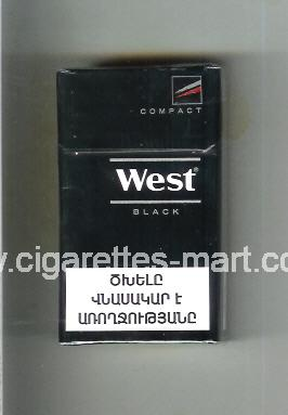 West (design 14) (Compact / Black) ( hard box cigarettes )