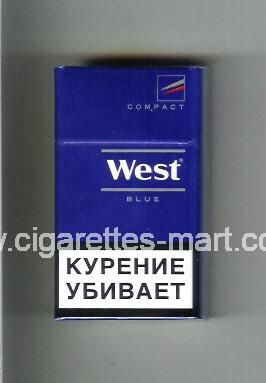 West (design 14) (Compact / Blue) ( hard box cigarettes )