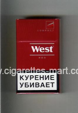 West (design 14) (Compact / Red) ( hard box cigarettes )
