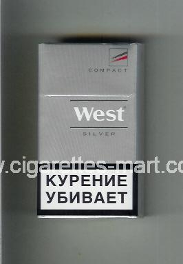 West (design 14) (Compact / Silver) ( hard box cigarettes )