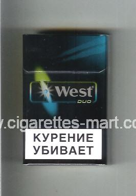 West (design 15) (Duo) ( hard box cigarettes )