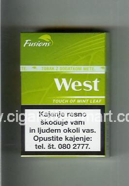 West (design 16) (Fusions / Touch of Mint Leaf) ( hard box cigarettes )