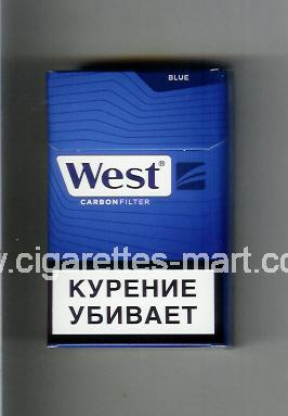 West (design 17) (Blue / Carbon Filter) ( hard box cigarettes )