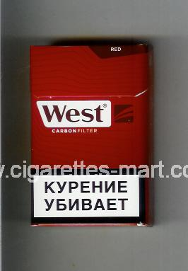 West (design 17) (Red / Carbon Filter) ( hard box cigarettes )