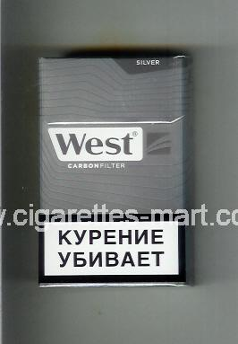 West (design 17) (Silver / Carbon Filter) ( hard box cigarettes )