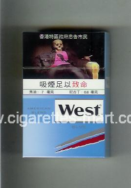 West (design 19) (American Blend / Blue) ( hard box cigarettes )
