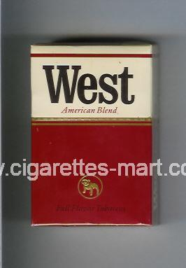 West (design 1A) (American Blend) (Full Flavor) ( hard box cigarettes )