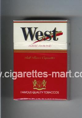West (design 2) (Full Flavor / American Blend) ( hard box cigarettes )