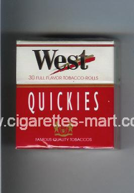 West (design 2) (Quickies / Full Flavor) ( hard box cigarettes )