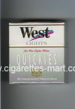 West (design 2) (Quickies / Lights) ( hard box cigarettes )