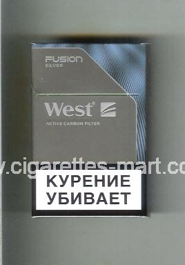 West (design 20) (Fusion / Silver / Active Carbon Filter) ( hard box cigarettes )