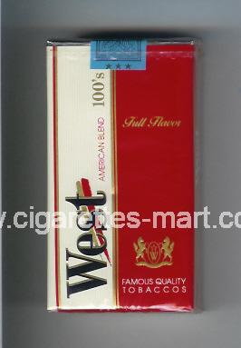 West (design 2A) (Full Flavor / American Blend) ( soft box cigarettes )