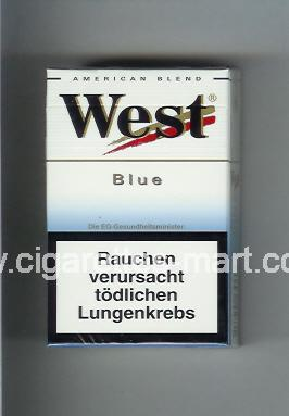 West (design 3) (Blue / American Blend) ( hard box cigarettes )