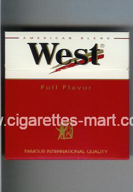 West (design 3) (Full Flavor / American Blend) ( box cigarettes )