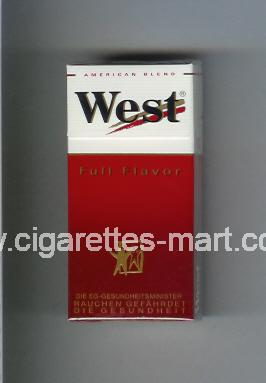 West (design 3) (Full Flavor / American Blend) ( hard box cigarettes )