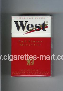 West (design 3) (Full Flavor / Multifilter / American Blend) ( hard box cigarettes )