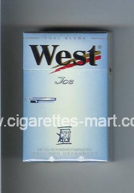 West (design 3) (Ice / Cool Blend) ( hard box cigarettes )