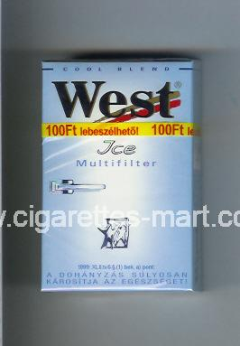 West (design 3) (Ice / Multifilter / Cool Blend) ( hard box cigarettes )