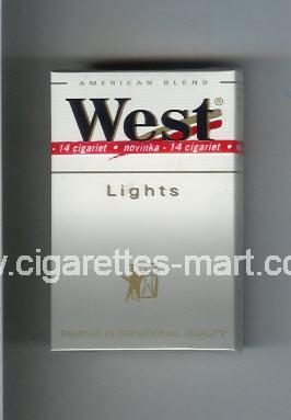 West (design 3) (Lights / American Blend) ( hard box cigarettes )