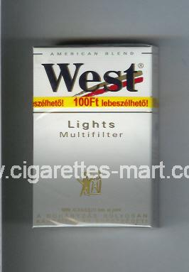 West (design 3) (Lights / Multifilter / American Blend) ( hard box cigarettes )